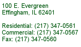 Contact Effingham Builders Supply